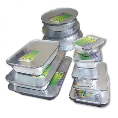 Seturi de containere  din aluminiu cu capace