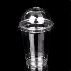 Pahare PET 400ml cu capac de cupolă