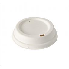 Capac biodegradabil To-Go pentru băuturi calde din PLA cu diametru - 80 mm