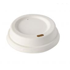 Capac biodegradabil To-Go pentru băuturi calde din PLA cu diametru - 90 mm