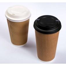 Capac biodegradabil To-Go pentru băuturi calde   PLA cu diametru - 80 mm