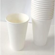 Pahar din hîrtie  330 ml (alb)