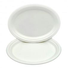 "Farfurie Biodegradabila oval 8""10 (20 *26 cm)"