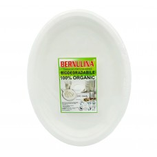 "Set Farfurii Biodegradabile ovale  8""10 (20 *26 cm) 6 buc."